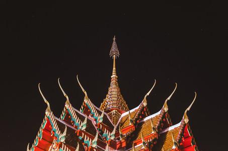 Thai temple at night