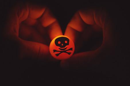 Glowing Halloween Skull