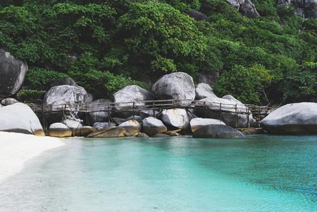 Rocky White Sand Beach
