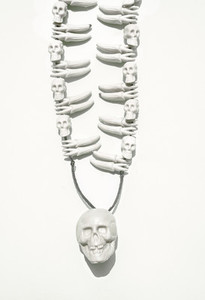 White Skulls Necklace