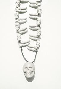 White Skulls Necklace