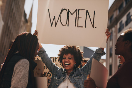 Protest for women equality and empowerment