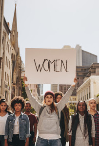 Protesting for equal rights to women