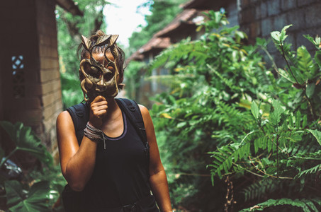 Girl with mask