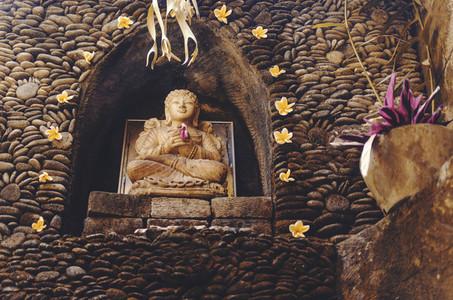 Carved stone Buddha