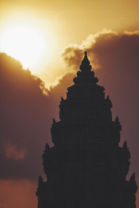 Silhouette Of A Khmer Temple