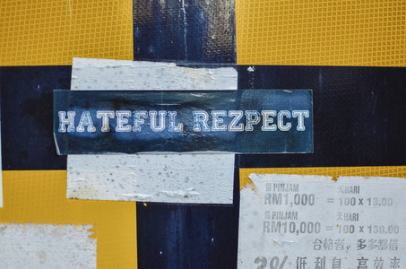 Hateful Respect Sticker