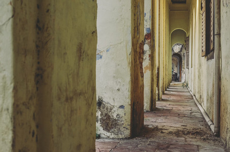 Old  Crumbling Hallway