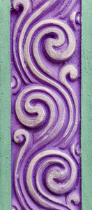 Decorative Floral Wall Detail