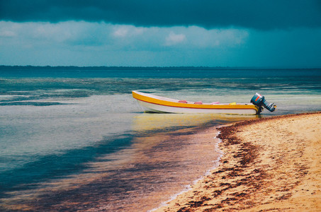 Boat On The Tropical Beach