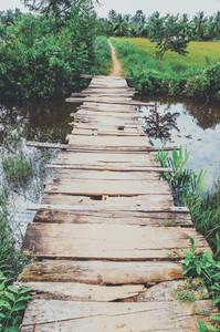 Old Crumbling Wooden Bridge
