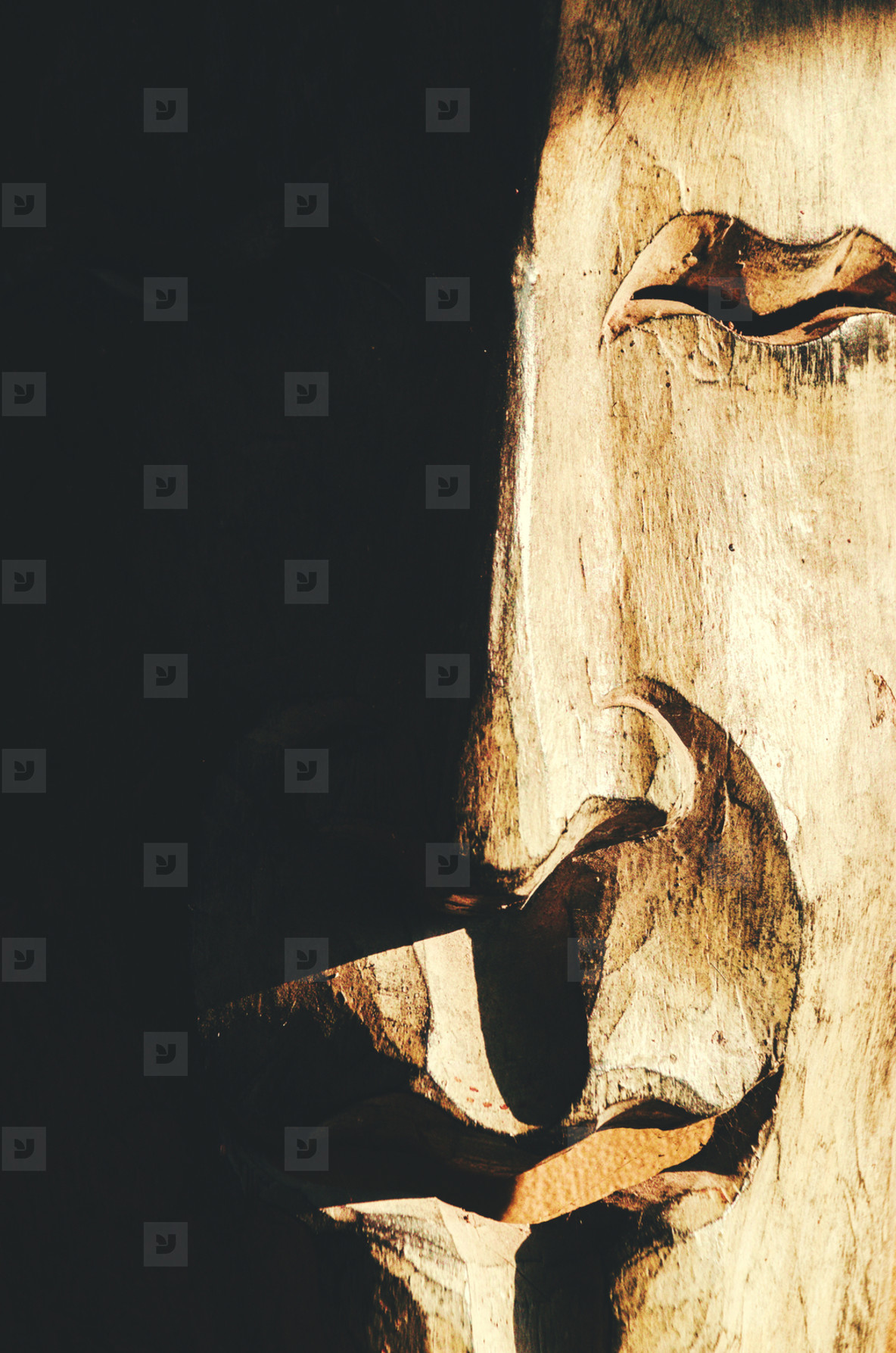Photos - Wooden Mask On The Wall - YouWorkForThem