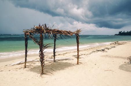 Simple tropical beach shack