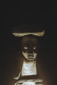 Lamp Lit Up At Night
