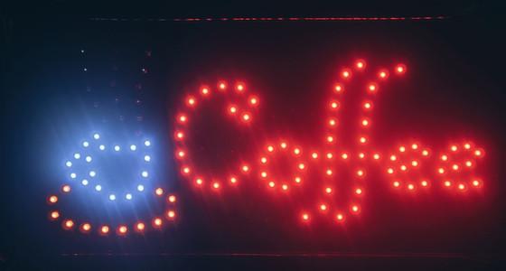 Fluorescent Neon Coffee Sign