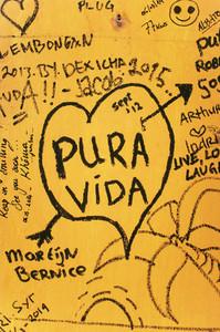 Heart Graffiti on the wall