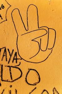 Peace sign graffiti