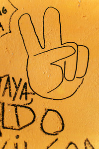 Peace sign graffiti