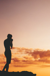 Photographing Beautiful Sunset