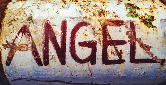 Rusty angel metal texture