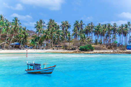 Beautiful blue lagoon