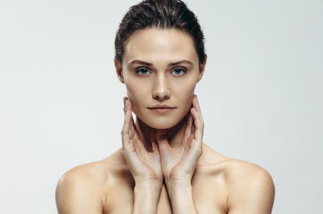Beautiful woman with fresh skin
