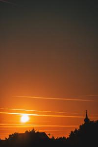 Sunrise Above Catholic Church