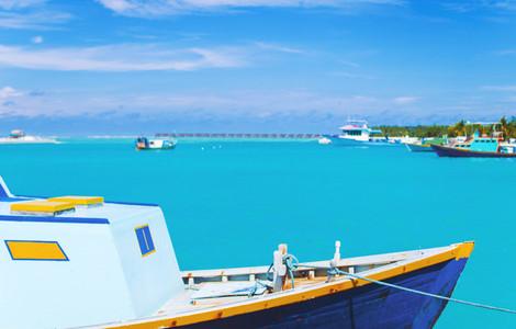 Perfect blue lagoon