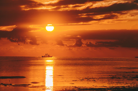 Beautiful golden sunset
