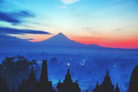 Borobudur temple at dawn