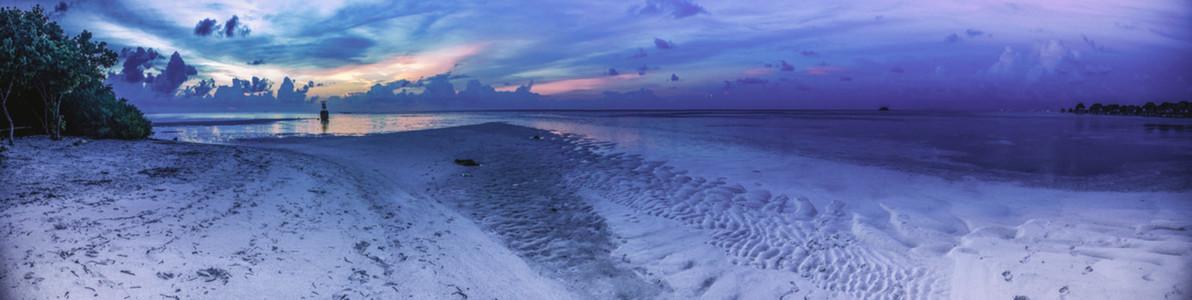 Beach at blue hour