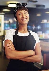 Confident African American female entrepreneur