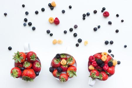 Colorful healthy fresh berries