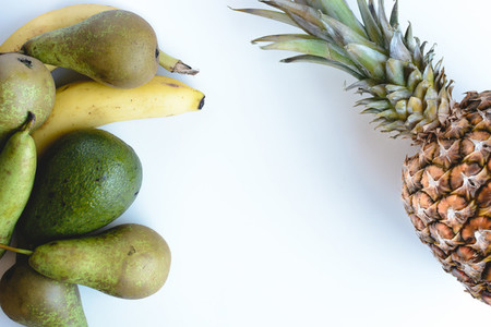 Fresh bananas pears avocados a