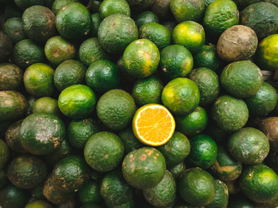 Asian green orange