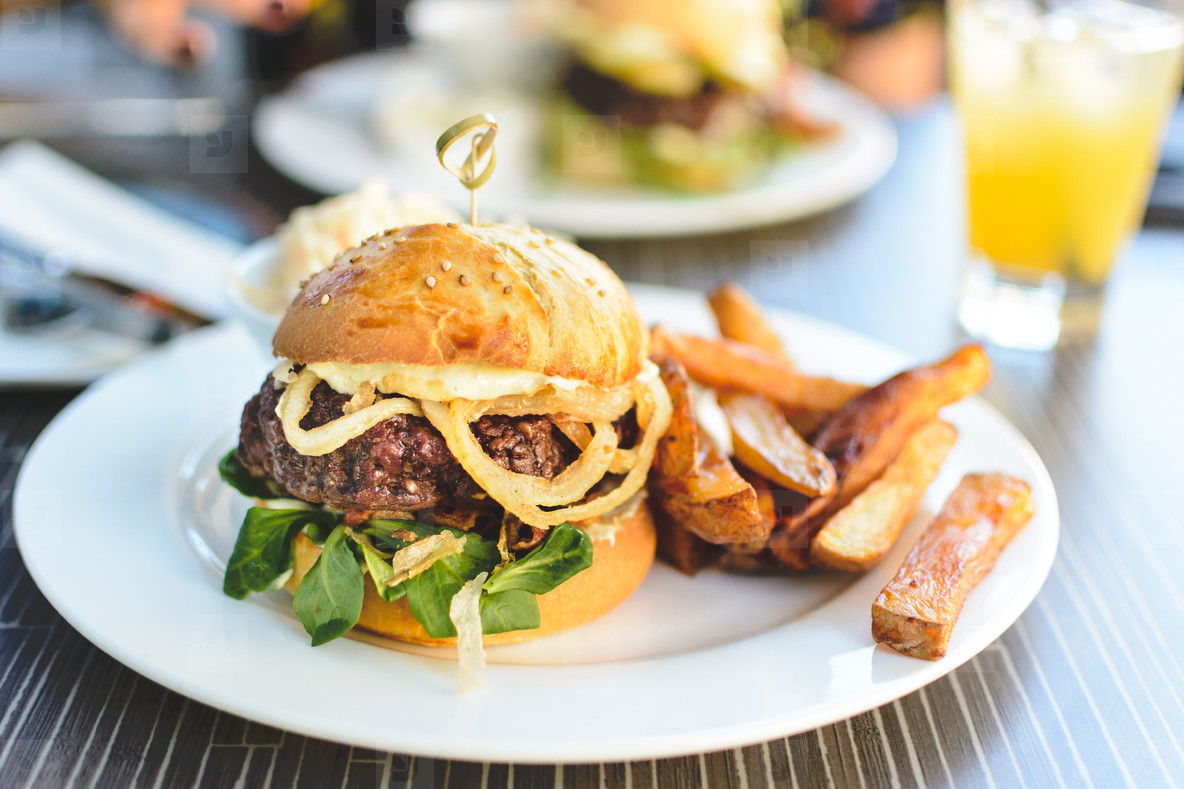 Awesome juicy beef burger