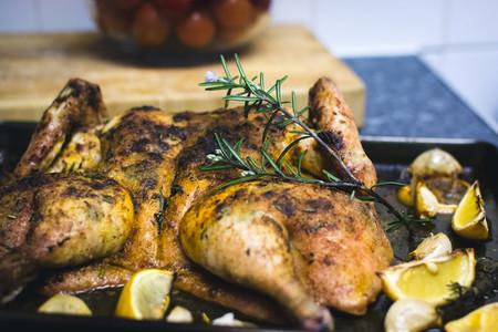 Baking whole chicken