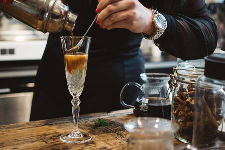 Bartender preparing espresso