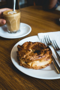 Coffee break with pastry