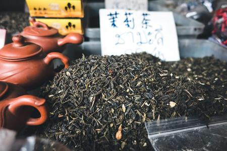 Black tea for sale at market