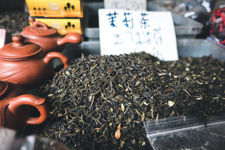 Black tea for sale at market