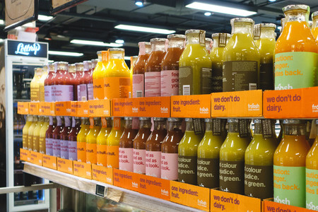 Bottled pressed juices