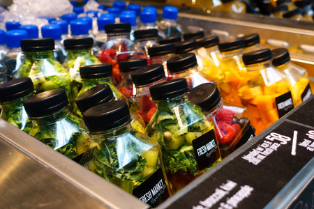 Bottles of infused water