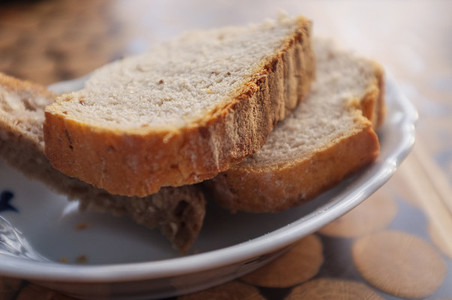 Bread cut in slices