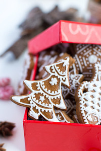 Christmas gingerbread with icing