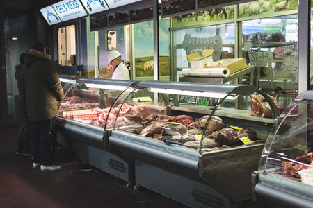 Butchers showcase fresh meat