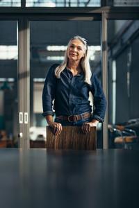 Portrait of confident senior business woman