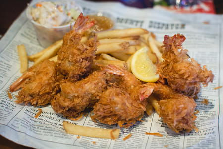Fried bredded shrimps
