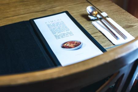 Choosing from a menu in a Korean