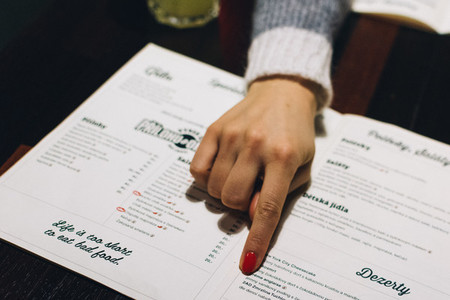 Choosing from a menu